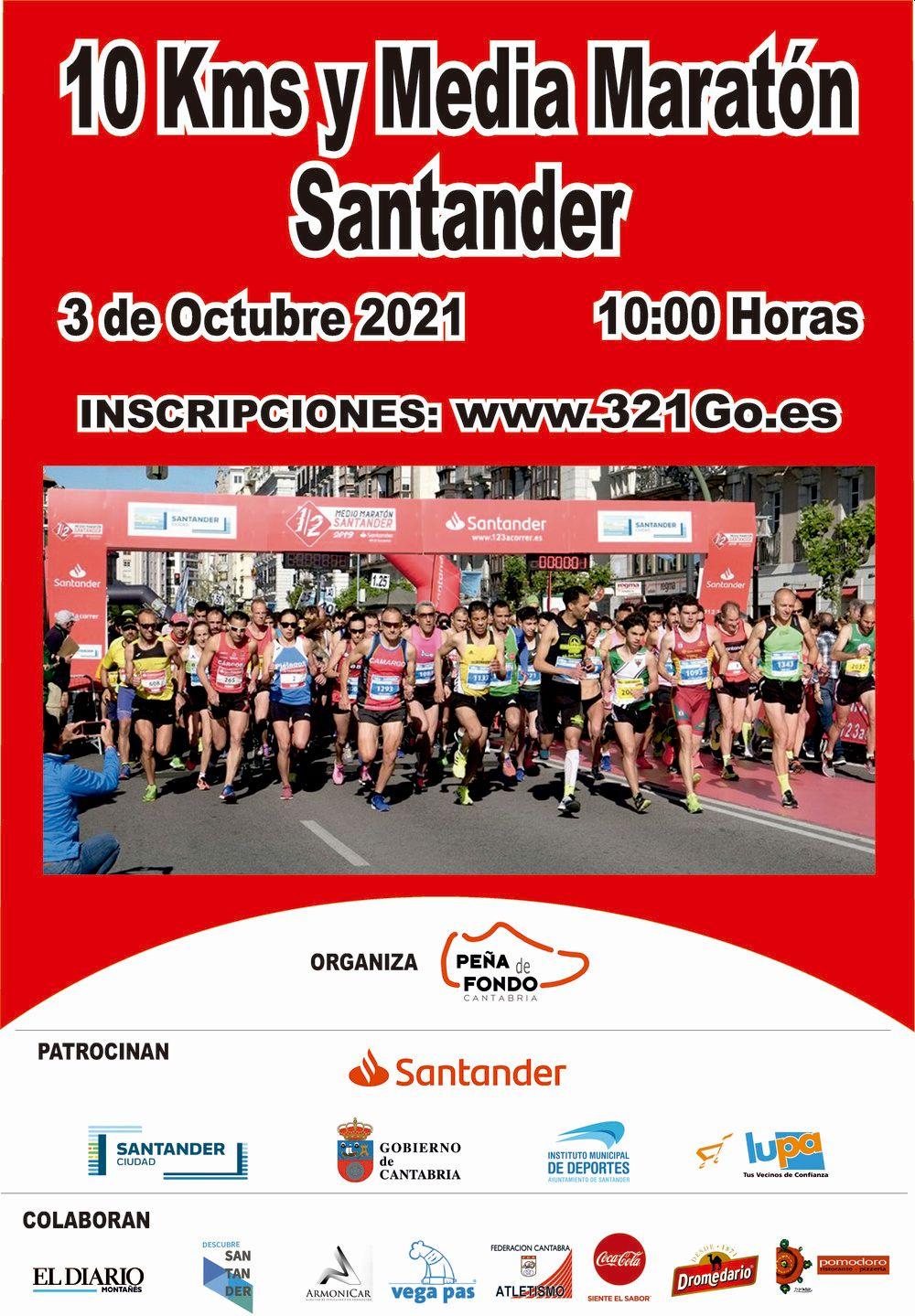 Medio Maratón y 10 km de Santander